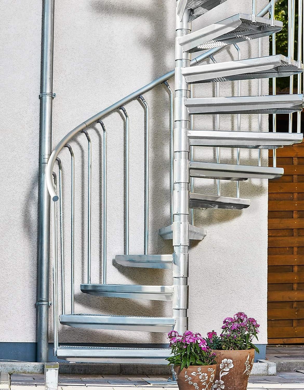 Scalant Scarvo M 160, escalera exterior, escalera de caracol para exteriores, diámetro de 160 cm: Amazon.es: Bricolaje y herramientas