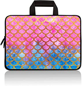 RUYIDAY 11 11.6 12 12.1 12.5 inch Laptop Carrying Bag Chromebook Case Notebook Ultrabook Bag Tablet Cover Neoprene Sleeve Fit Apple MacBook Air Samsung Acer HP DELL Lenovo Asus (Mermaid Scale)