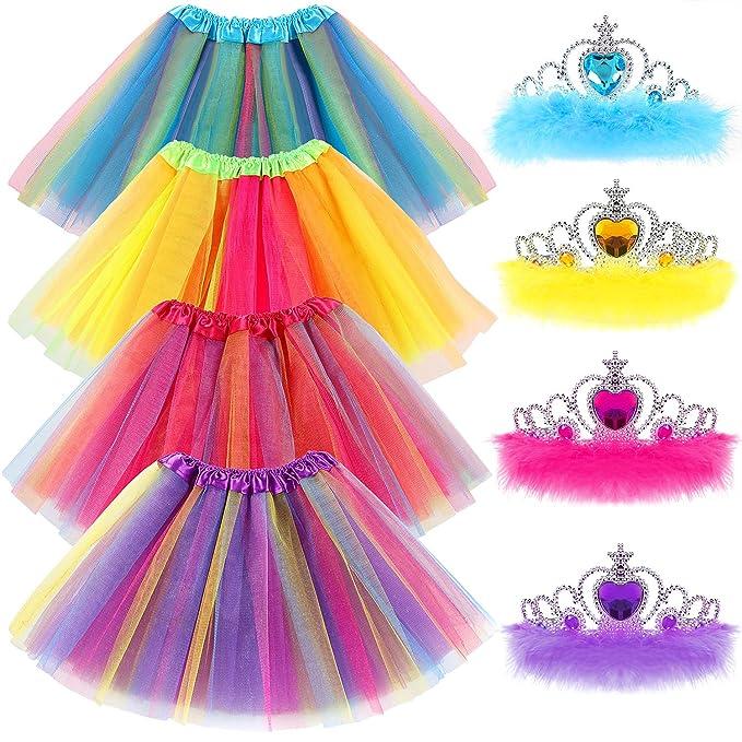 Amazon.com: Juego de tiara de princesa para niñas pequeñas ...