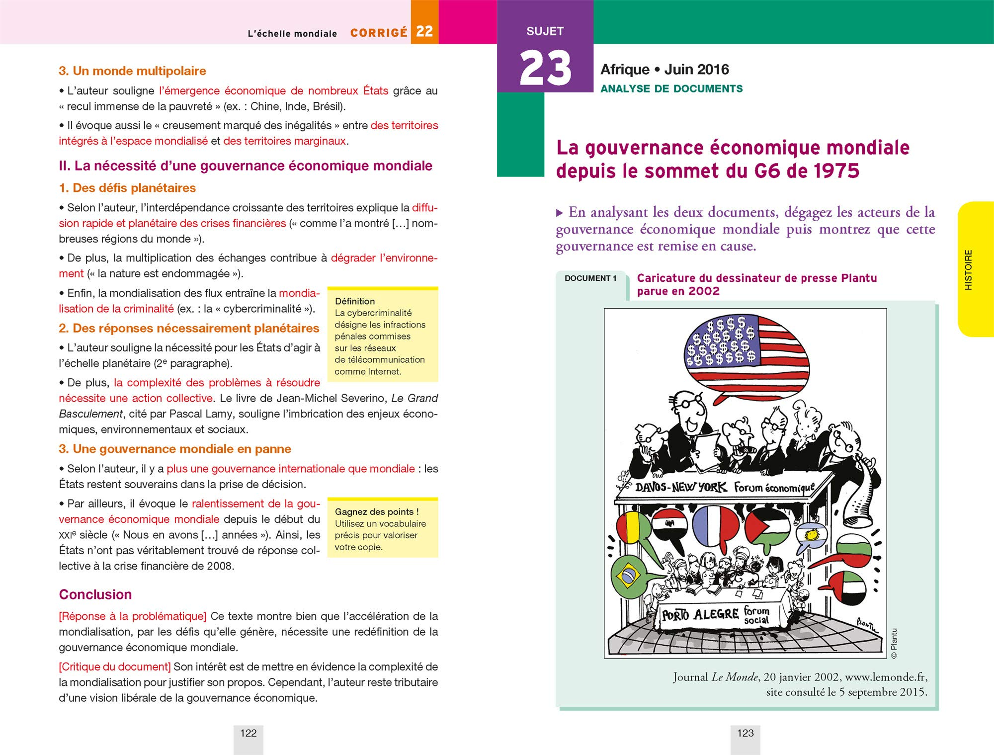 Histoire-Géographie Tle S : Sujets et corrigés: 9782401045569: Amazon.com: Books