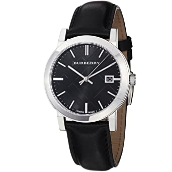 18f44bfc5bd3 Image Unavailable. Image not available for. Color: Burberry Men's BU9009  Black Leather Strap Watch
