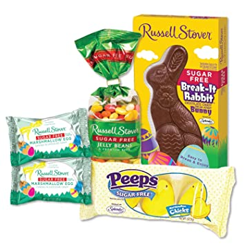 Sugar Free Easter Candy Assortment Jelly Beans Chocolate Bunny Marshmallow Eggs Peeps