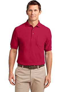 Port Authority Silk Touch Polo Shirt with Pocket XS-6XL Polycotton Fabric