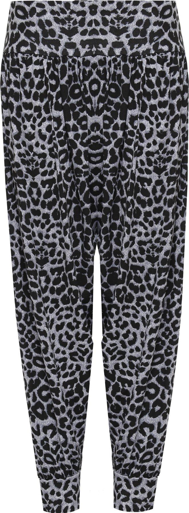WearAll Women's Plus Size Animal Print Harem Trousers Ladies Long Pants - Gray - US 20-22 (UK 24-26)