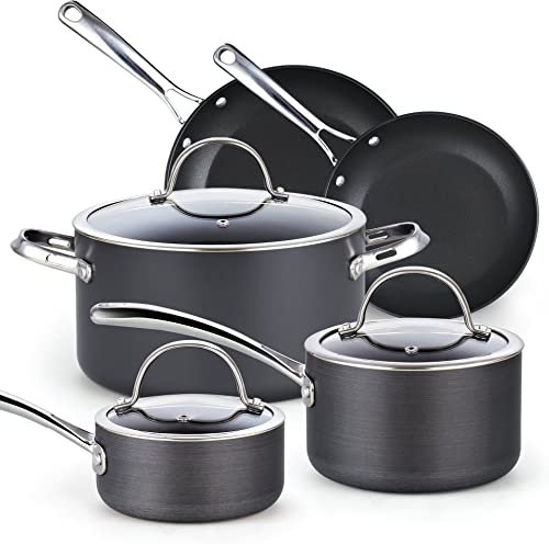 Cooks Standard 8-Piece Nonstick Hard Anodized Cookware Set
