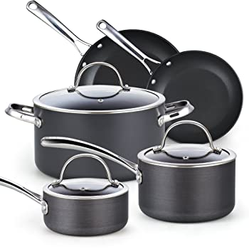 Cooks Standard 8 Pcs Hard-Anodized Cookware Set