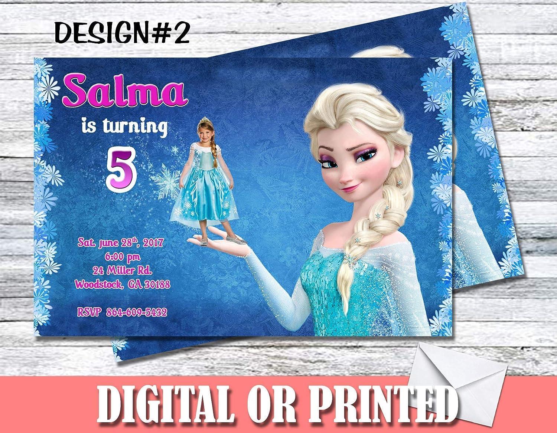 Amazon Com Frozen Personalized Birthday Invitations More Designs