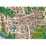 Oxford - Views from Above Britain -1000 Piece Map Puzzle
