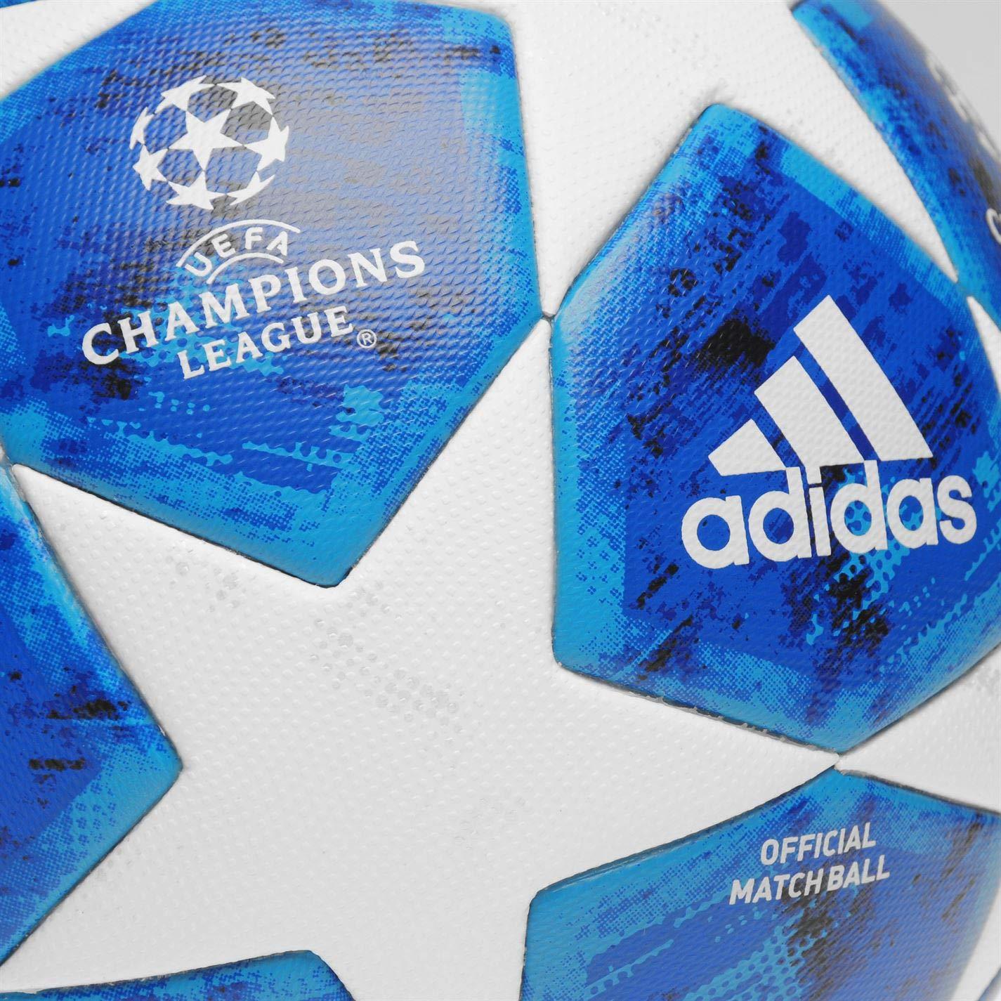 adidas Finale 18 Official Interior y Exterior - Pelotas de fútbol (Azul, Blanco, Específico, Interior y Exterior, 12 año(s), Poliéster, Polyester 100): ...