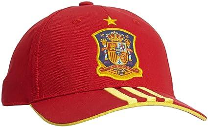 Adidas Selección Española de Fútbol - Gorra unisex, color rojo, talla única