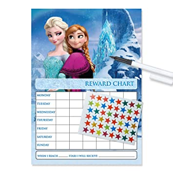 Frozen Re Usable Reward Chart Including FREE Star Stickers
