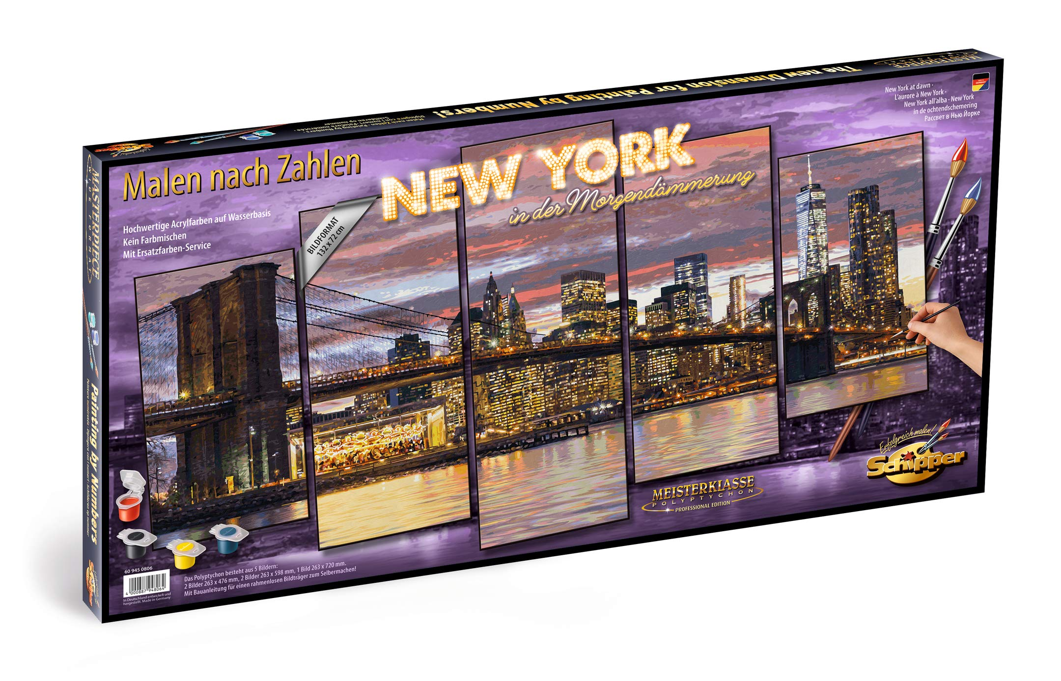 Schipper 609450806 Painting by Numbers 132 x 72 cm New York at Dawn by Schipper