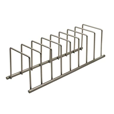 Spectrum Diversified Euro Lid Organizer, Plate Rack, Lid Holder, Square, Satin Nickel