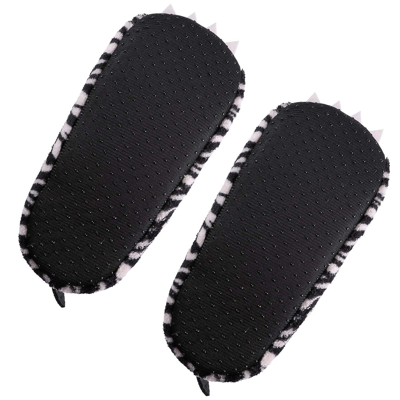 SCOWAY Kids Girls Boys Christmas Cute Animal Slippers Soft Warm Plush Lining Non-Slip Home Shoes Winter Boot Socks