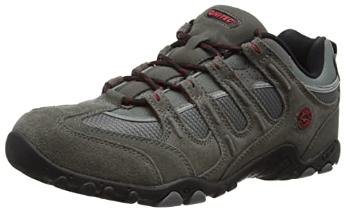 Hi-Tec Quadra Classic, Men Low Rise Hiking Shoes, Grey (Charcoal/