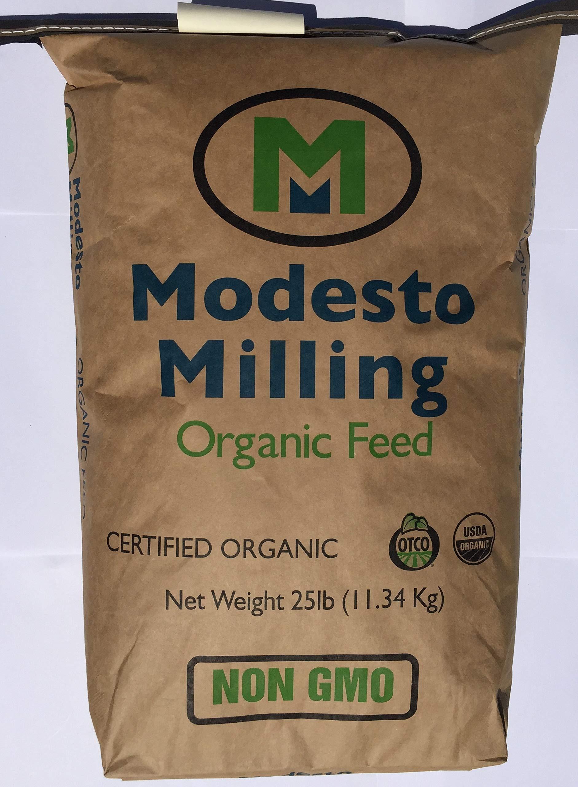 Modesto Milling Organic, Non GMO Rabbit & Chinchilla Pellets, 25 lbs; Item# 5044
