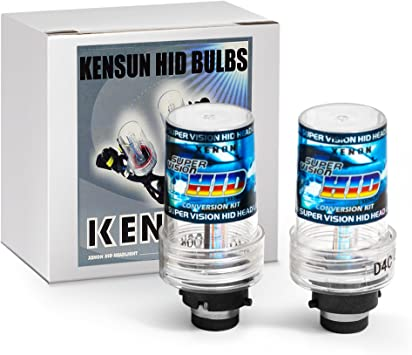 6000K Pack of 2 D4S Kensun HID Xenon Replacement Bulbs