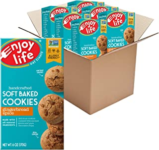 product image for Enjoy Life Gingerbread Spice Soft Baked Cookies, Soy Free, Dairy Free, Non GMO, Gluten Free, Vegan, Nut Free Cookies, 6 Boxes
