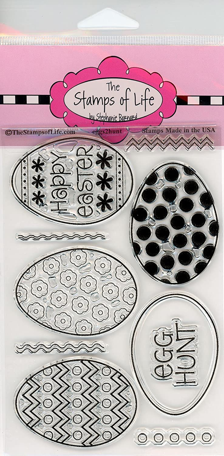 Eggs2Hunt Easter Eggs Stamps for Scrapbooking and Card-Making by The Stamps of Life