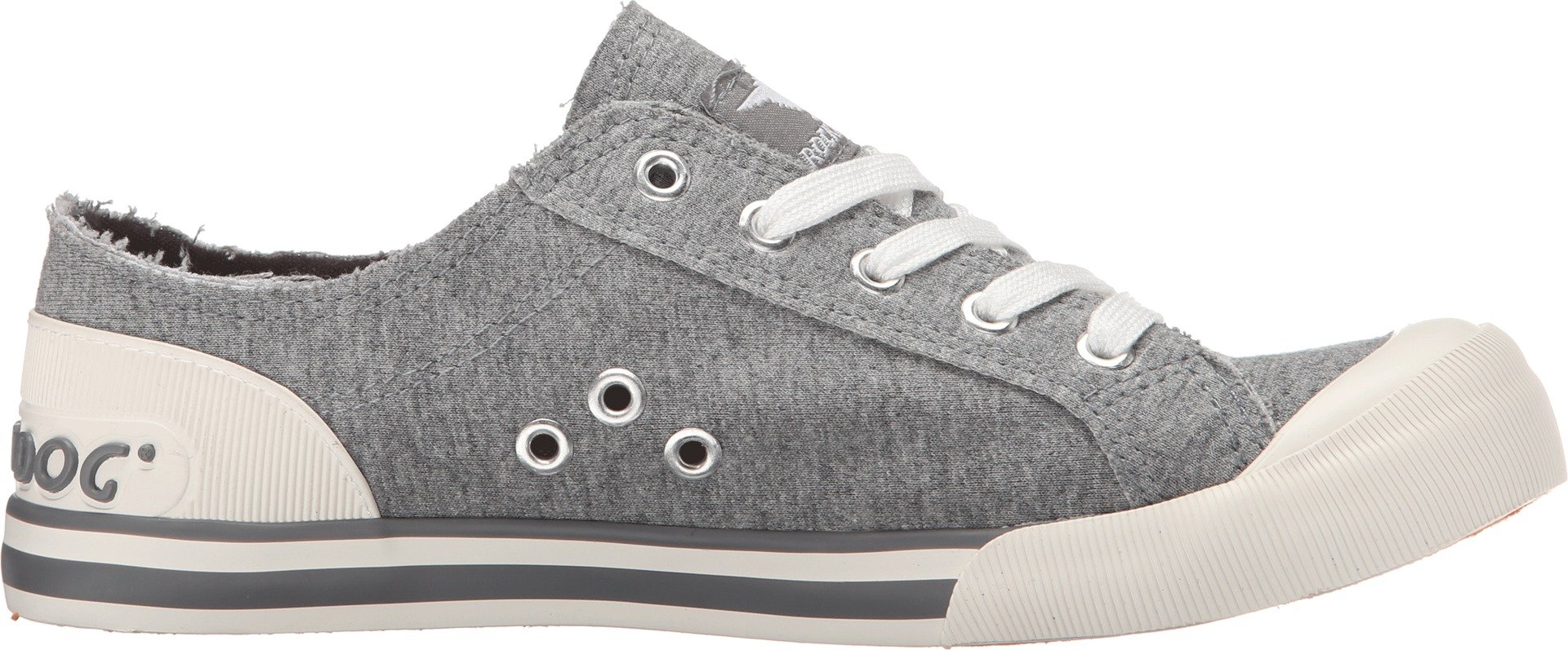 Rocket Dog Women's Jazzin Summer Jersey Cotton Sneaker, Grey, 7 M US