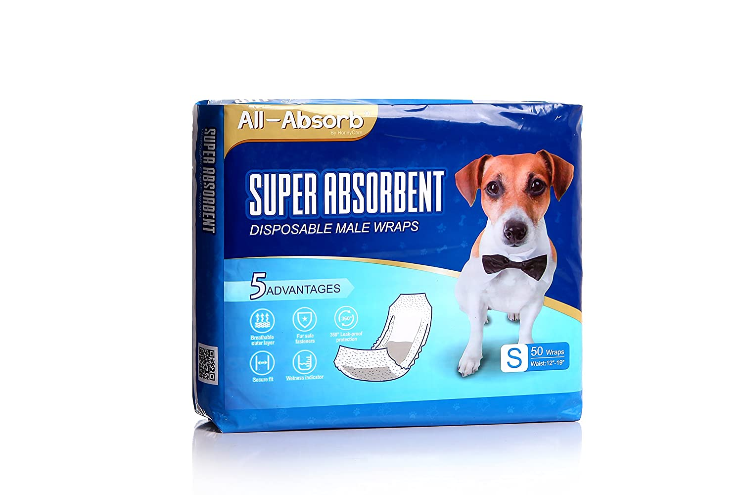 All-Absorb Male Dog Wrap, 50 Count