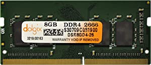 DOLGIX 8GB DDR4 PC4-21300 2666MHz Laptop 260Pins 1.2V Memory Ram Module Upgrade