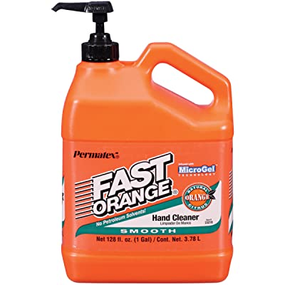 Permatex 23218 Fast Orange Smooth Lotion Hand Cleaner with Pump, 1 Gallon: Automotive