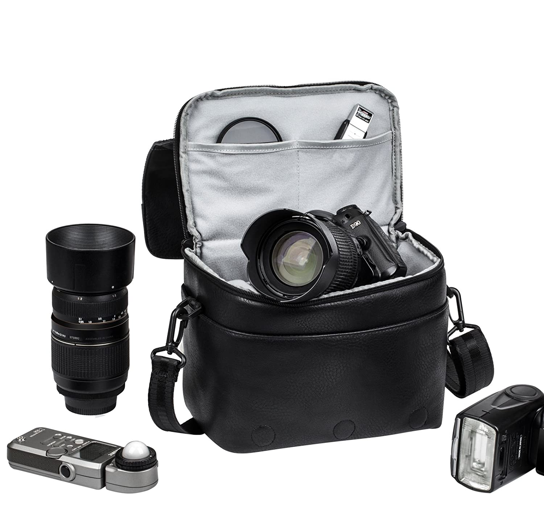 Rivacase 7613_Black - Funda para cámara réflex (Piel sintética ...