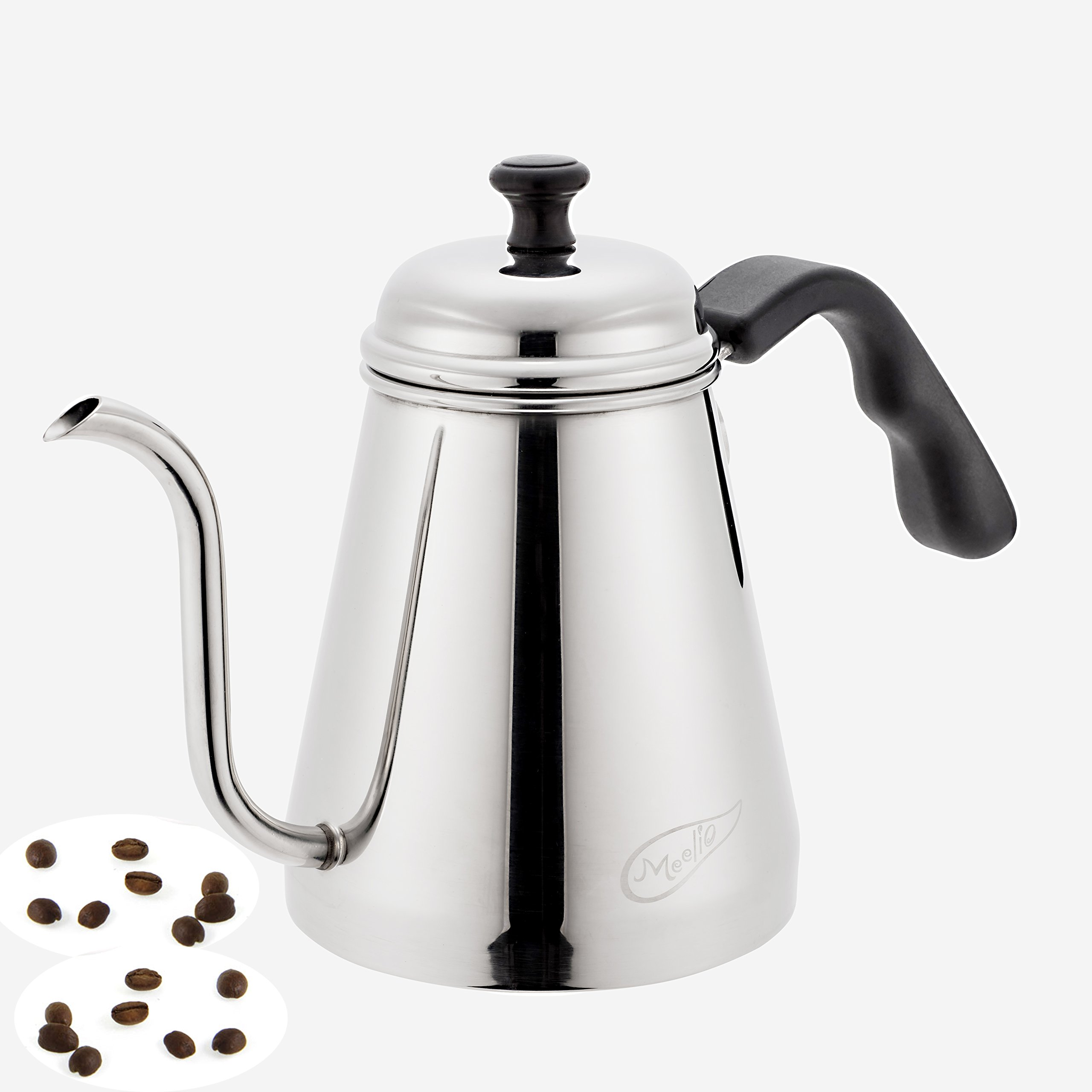 Meelio Pour Over Coffee Kettle,1 Liter Gooseneck Drip Kettle,Stainless Steel Tea Coffee Pot … (1.0L)