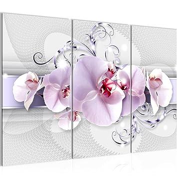 Bilder Blumen Orchidee Wandbild 120 x 80 cm - 3 Teilig Vlies ...