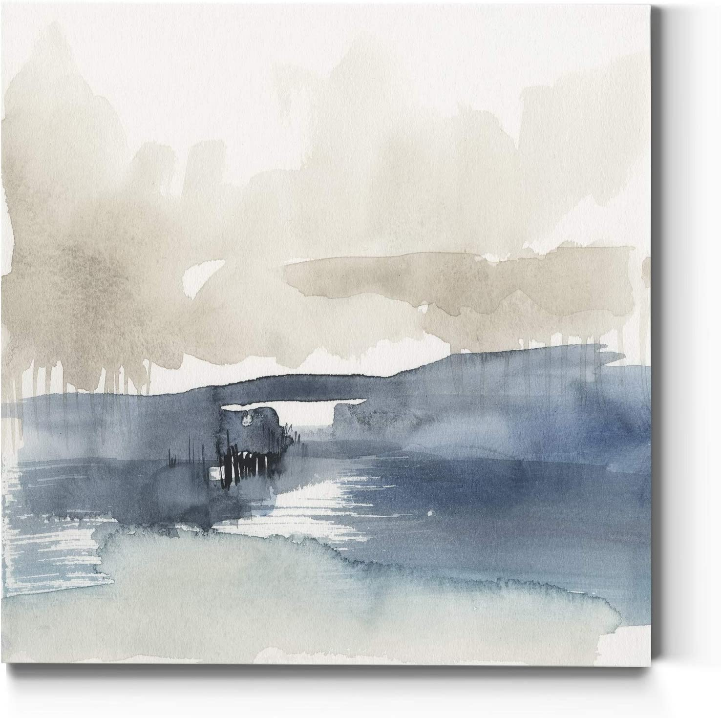 Neutral Color Wall Art, Wall Décor Canvas, Beaches, Floral, Animals, Bohemian, & Vintage Styles, Ready to Hang -Fog on The Horizon IV 16X16