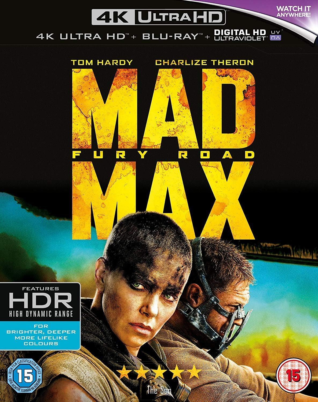 Mad Max: Fury Road [4K Ultra HD] [2015] [Blu-ray] [Region Free]