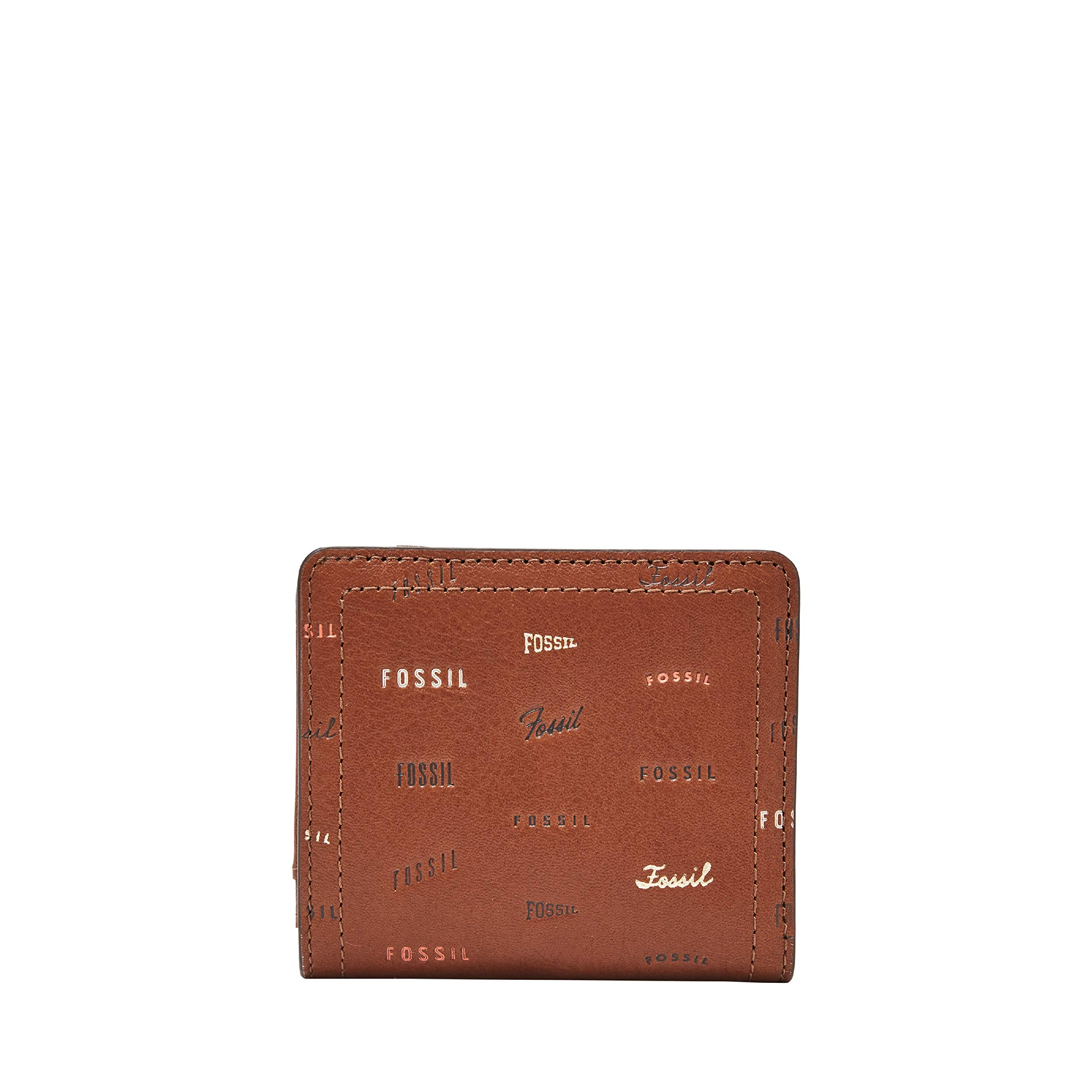 Fossil Women's Logan Small Brown Leather Bifold Wallet