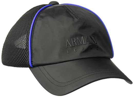 3ab536111 Amazon.com: Armani Exchange Men's Mesh Embroidered Logo Baseball Cap ...