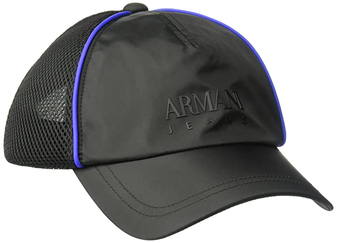 Amazon.com  Armani Exchange Men s Mesh Embroidered Logo Baseball Cap ... 833d6c83c9fb