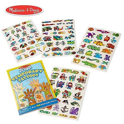 b5d0b59938cef Amazon.com: Melissa & Doug My First Temporary Tattoos: Adventure,  Creatures, Sports, and More (100+ Kid-Friendly Tattoos): Melissa & Doug:  Toys & Games