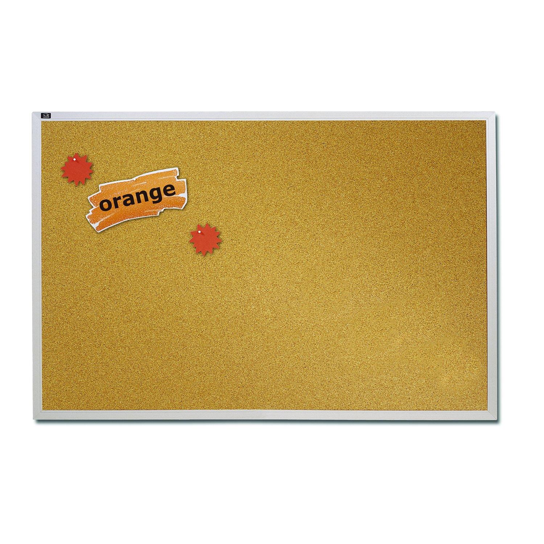 Quartet Natural Cork Bulletin Board, 4-Feet x 6-Feet, Aluminum Frame (ECKA406) by Quartet