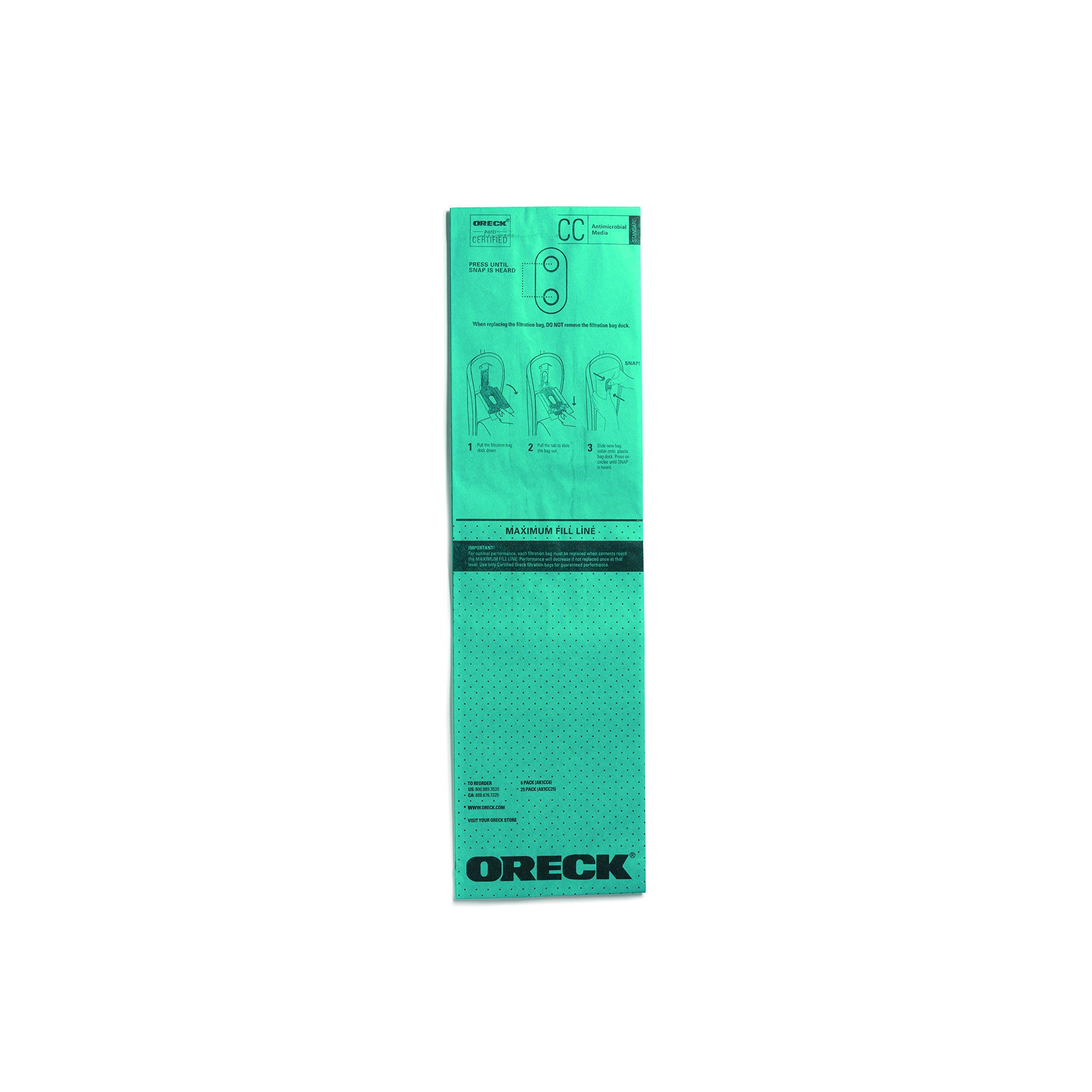 Oreck Standard Antimicrobial Filtration Bags - 25pk, AK1CC25