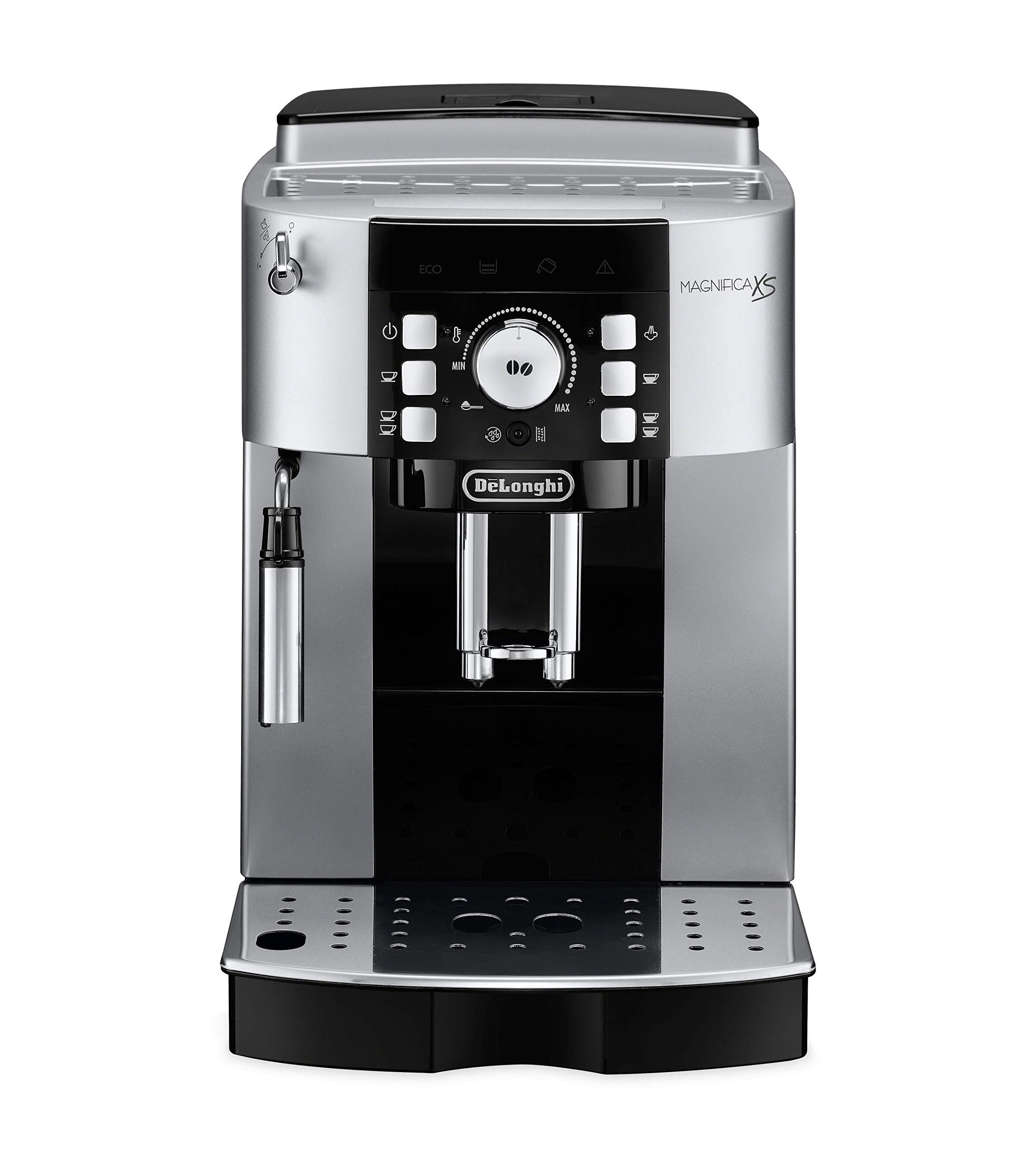 De'Longhi ECAM22110S Magnifica XS Fully Automatic Espresso Machine with Manual Cappuccino System, SILVER AND BLACK by De'Longhi