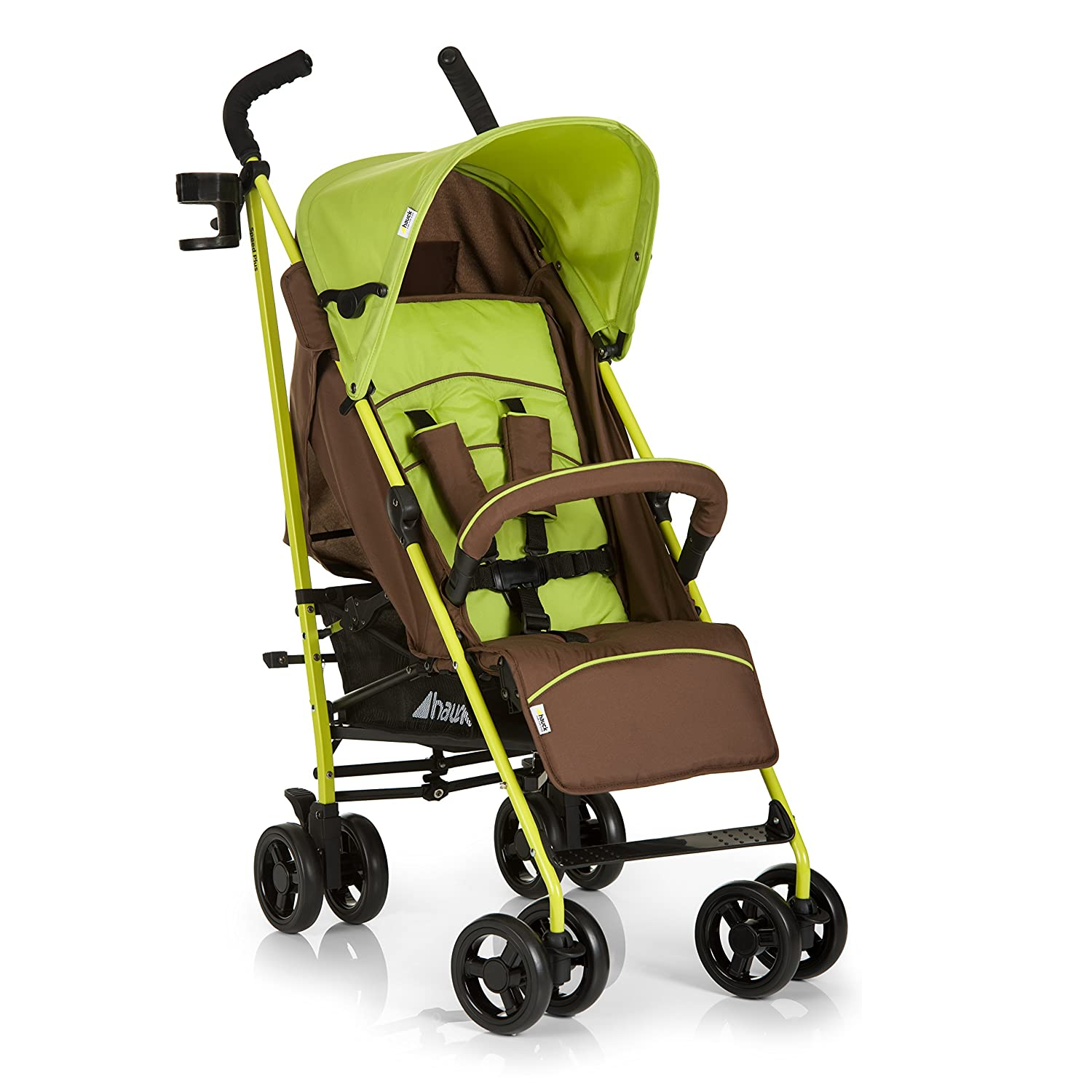 Hauck Speed Plus Four Wheel Pushchair - Brown/Green