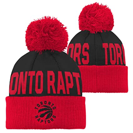 cd4297f4fb6 NBA Toronto Raptors Children Boys Cuffed Knit with Pom Hat, 1 Size, Black