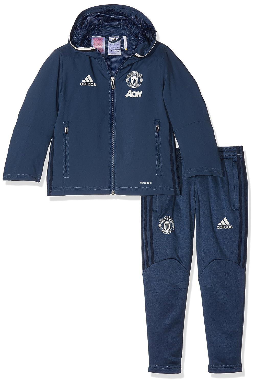 Adidas MUFC PRE Sui IN - Sweatshirt - Linea Manchester United FC - Junge, Blau Weiß