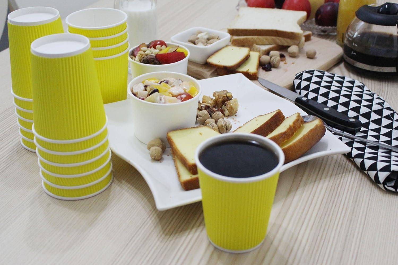 Caliente y Fr/ía de onda quacity aislado desechables caf/é vasos de papel 8/oz/ /perfecto para bebidas fr/ías y calientes/ /sin necesidad de mangas