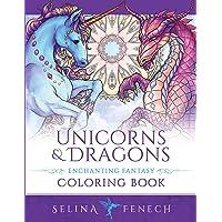 Unicorns and Dragons - Enchanting Fantasy Coloring Book