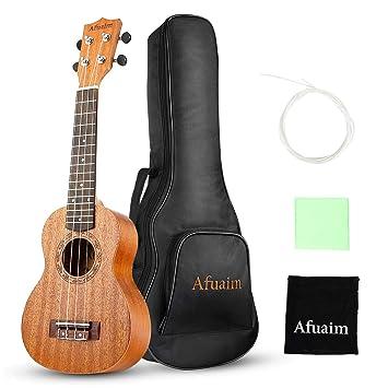 Afuaim Ukelele Concierto Caoba Uke con Gig Bag y Cuerdas Extra para Principiantes (23 pulgada): Amazon.es: Instrumentos musicales