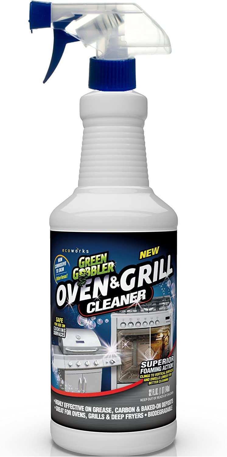 Green Gobbler Heavy Duty Oven, Grill, BBQ & Range Hood Cleaner - 32 oz Concentrate