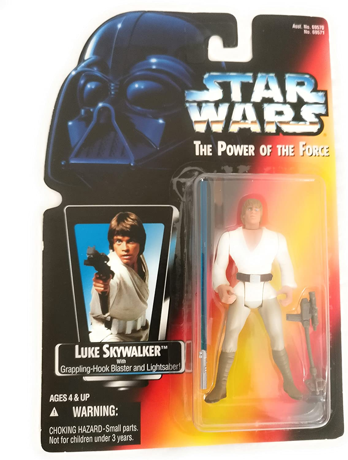 Star Wars Power of the Force Red Card Luke Skywalker in X-Wing Fighter Pilot Gear with Long Lightsaber Action Figure