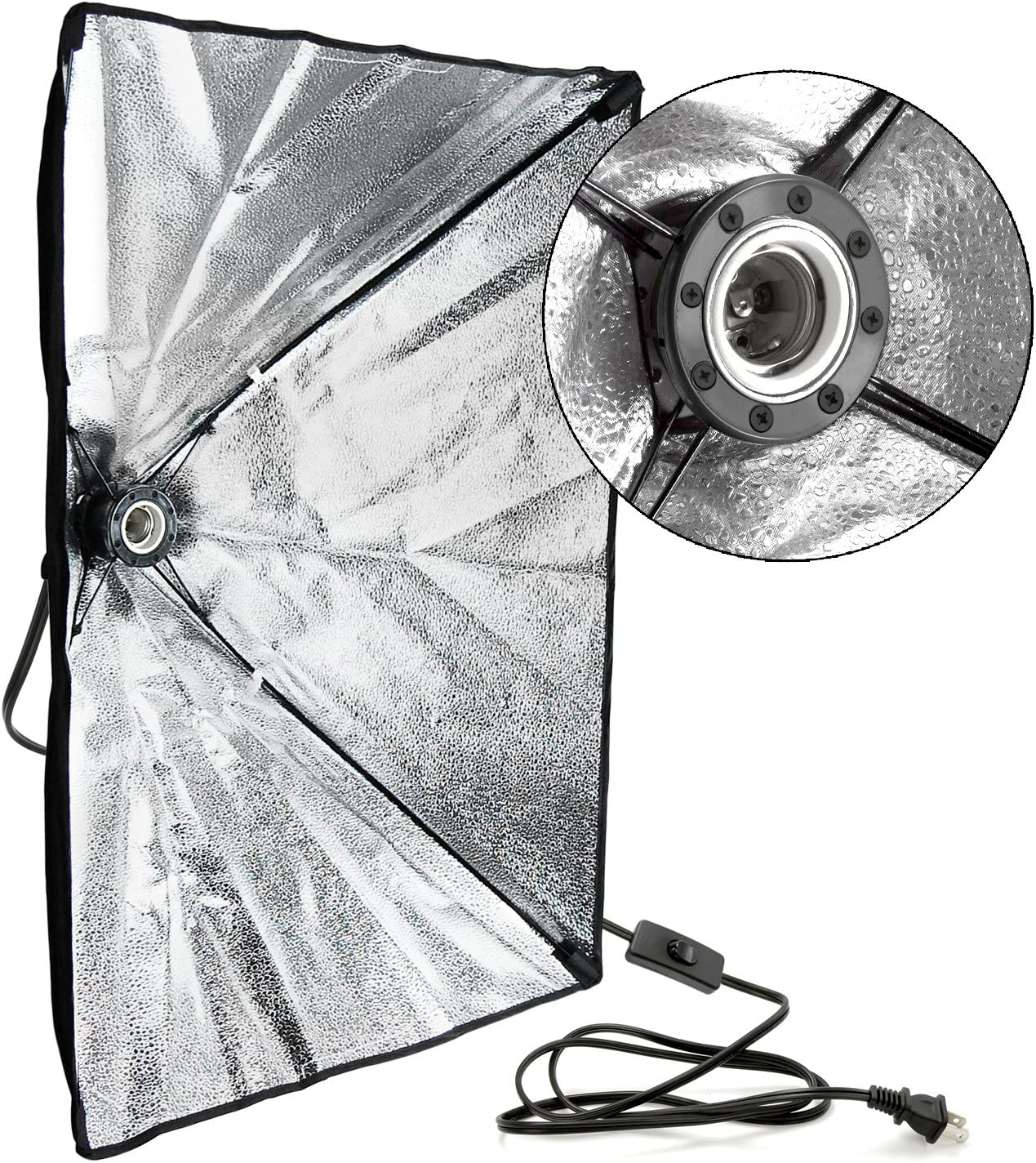 2 Set 20 x 28 inch Dimension Soft Box with Built-in Single Bulb Socket with 85 Watt Light Bulb AGG2557 LimoStudio Photo Video Studio