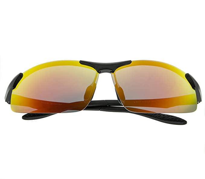 VEITHDIA Gafas de Sol Polarizadas y Gran Claridades Con TR90, Marco Irresistible y Ligero para