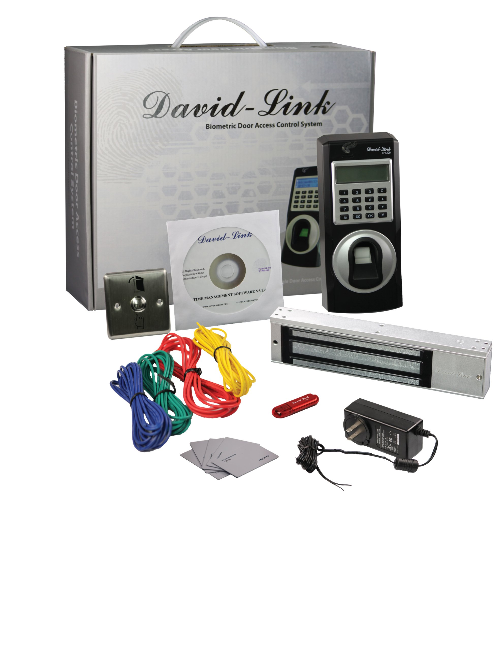David-Link A-1300P Biometric A-1300 Access Control Starter Kit for Restricted Access Entrance, Temperature Range: 32 - 120 by David-Link